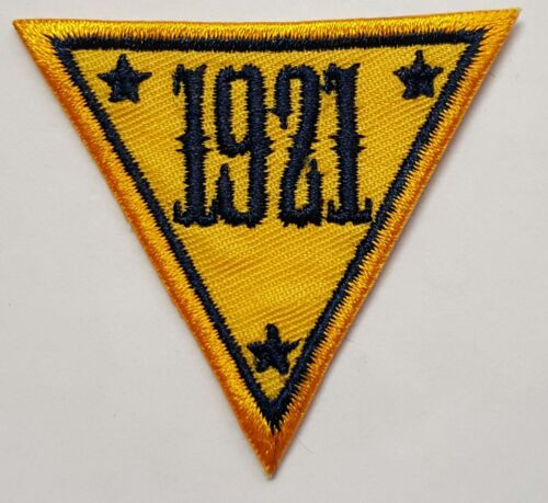 "NJSP New Jersey State Police 1921 Triangle Embroidered Patch 2"" Tall 2.25"" Side"