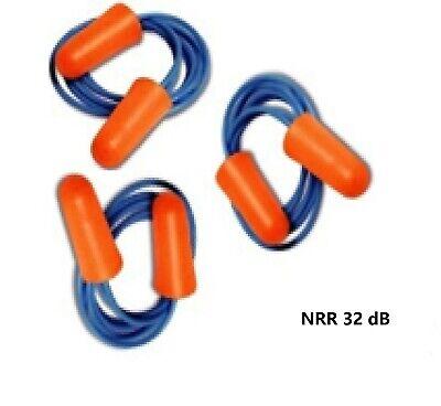 5100 Pairs Disposable Soft Polyurethanepu Foam Ear Plugs Nrr 32 Db With Cord