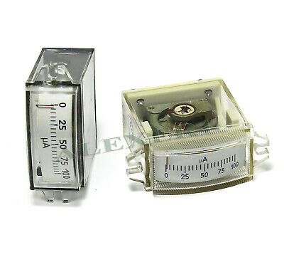 1x Analog Panel Meter 0-100ua Military Ussr Current Dc Ammeter M4248