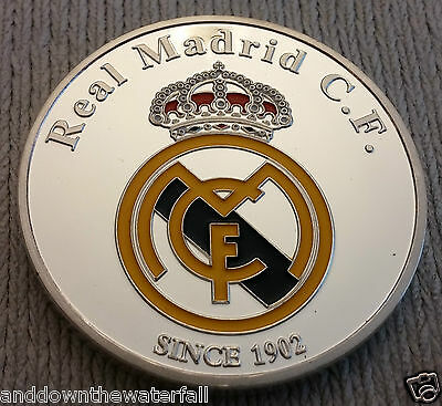 Ronaldo Real Madrid Silver Coin Spain Portugal Man U Free Kick Stance Legend C
