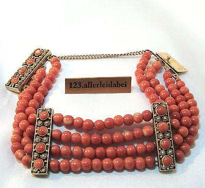 altes Korallenarmband Koralle Armband Silber Armband old coral bracelet / AU 390