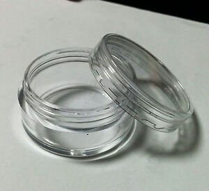 10-x-10g-Clear-Plastic-Lip-Balm-Small-Sample-Cosmetic-Jars-Container-Cap