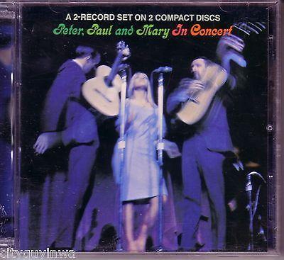 PETER PAUL & MARY In Concert 1989 Warner Bros 2CD 60s Pop Folk Rock 18 Hits Live (Pop Rocks In Bulk)
