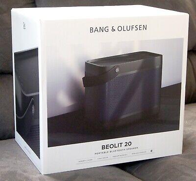 NEW/SEALED -Bang & Olufsen Beolit 20 Portable Bluetooth Speaker - BLK Anthracite
