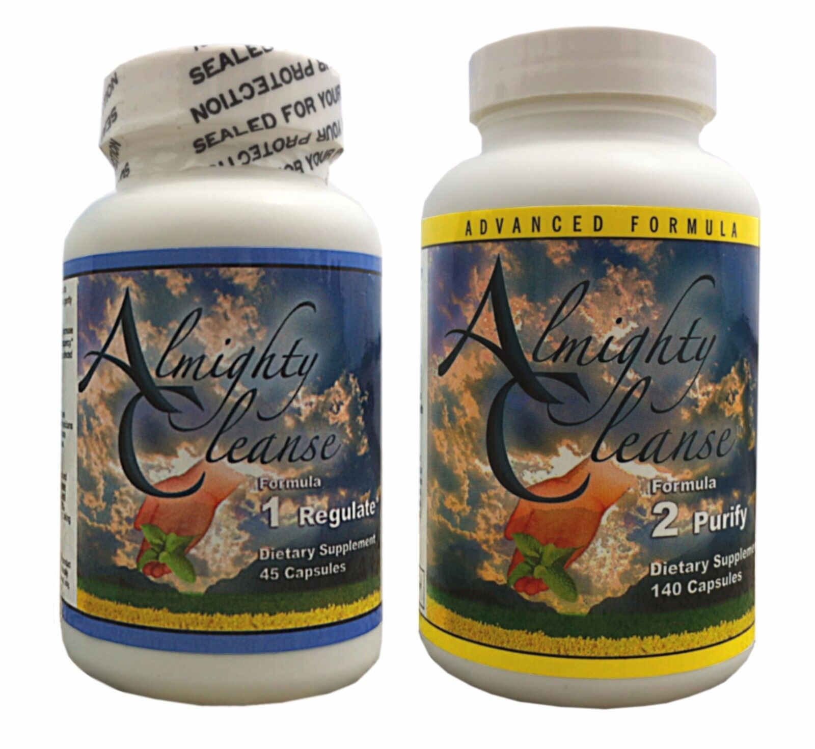 Almighty Cleanse 7-Day Detox Formula 1&2 Colon Cleanser Weig