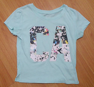 New Women's T Shirt Sz XS Aeropostale CA California Top Light Turquoise Blue (California Womens Light T-shirt)