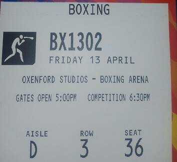 ONE BOXING Commenweathgames tickets