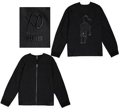 Puma X The Weeknd Xo Mens Full Zip Kimono Bomber Jacket Black 576896 01 M10