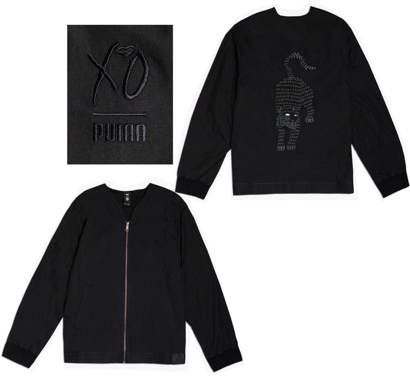 Détails sur Puma x The Weeknd XO Homme Zip complet Kimono Veste D'aviateur Noir 576896 01 M10 afficher le titre d'origine