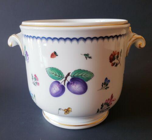 "Richard Ginori Italian Fruits Antico Doccia Medium Cachepot 5 1/2"" Italy"