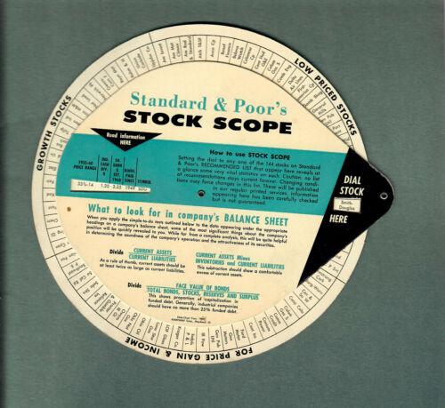 1960 STANDARD & POOR