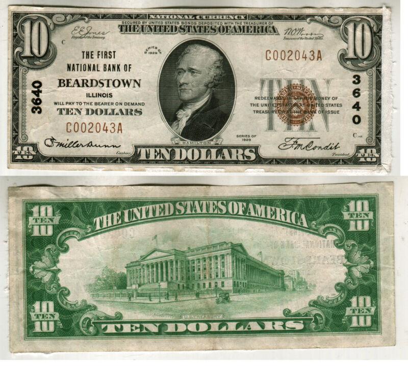 1929 BEARDSTOWN ILLINOIS $10.00