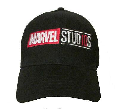 New Years Hat (Marvel Studio 10 Year Anniversary Logo Baseball Hat Adult OSFA or)
