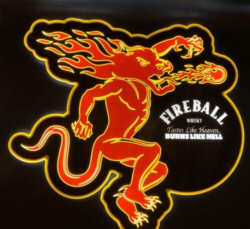 Fireball Whiskey Liquor LED Sign - New -
