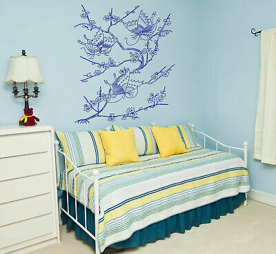 - ik351 Wall Decal Sticker Japanese cherry cherry butterfly insect