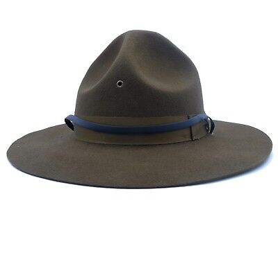 Military Campaign Hat Drill Sergeant Instructor Hat  Mountie Ranger Hat - Drill Instructor