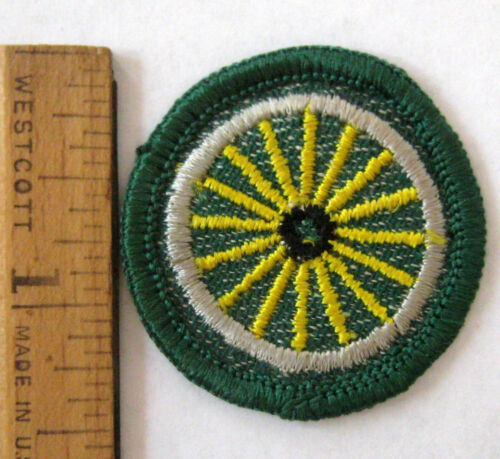 Vintage 1955-60 Girl Scout CYCLIST BADGE Bike Riding Bicycling Tire Wheel Patch