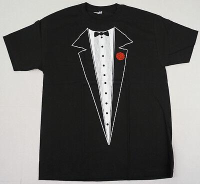 Costume Black Adult T-shirt - TUXEDO T-shirt Wedding Prom Party Costume Adult Humor Tee S,M,L,XL,2XL Black New
