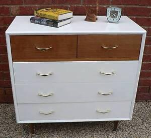 Retro Vintage Chest of Drawers circa 1970's by Mentone furniture Wantirna South Knox Area Preview
