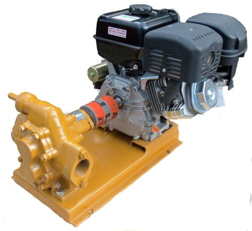 Oil transfer Gear Pump 100 GPM Gas powered for Motor Oil, Diesel, Biodiesel
