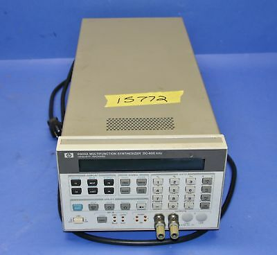 1 Used Hp Hewlett Packard 8904a Digital Multifunction Synthesizer 15772