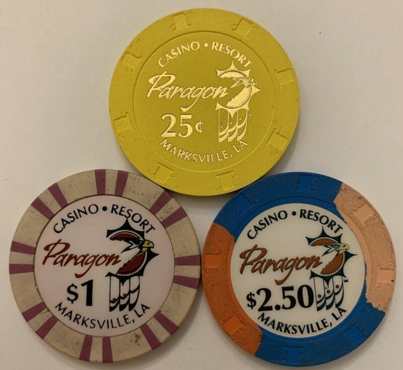 Louisiana Paragon Casino $0.25 $1 $2.50 Chips