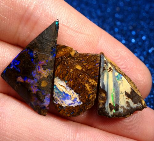 Lot 4x Natural Australian Yowah Boulder Rough Opals ✨