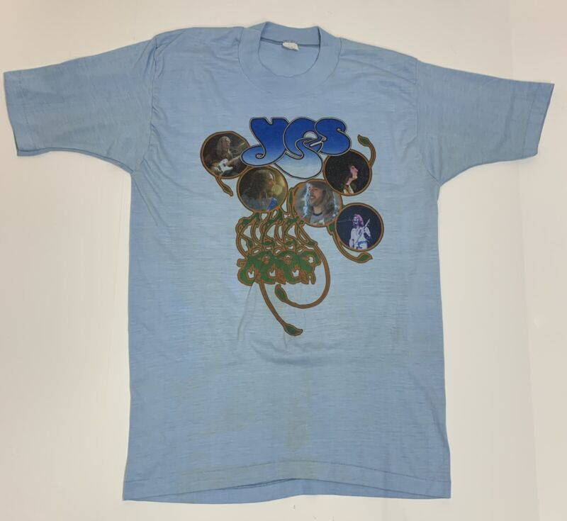ORIGINAL VINTAGE 1970's YES CONCERT TOUR T-SHIRT EXTREMLY RARE