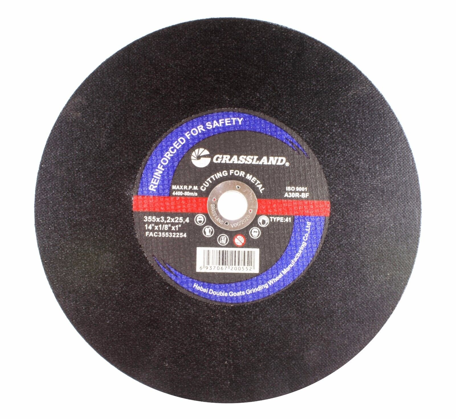"T41 - Cutting Disc Steel Freehand Cut-off wheel 100 PACK 7/"" x 1//16/"" x 7//8/"""