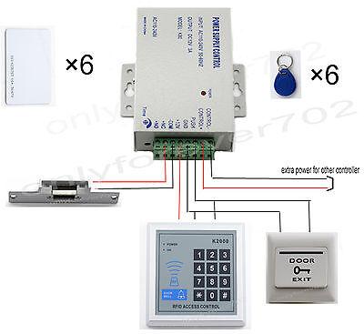 Rfid NC Zutrittskontrolle Türöffner Codeschloss Zugangskontrolle Komplette Set