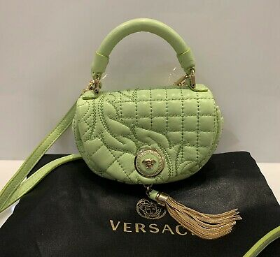 Gianni Versace Vanitas Micro Bag Crossbody Barocco Quilted Clutch Medusa Green