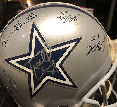 DALLAS COWBOYS 16 AUTOGRAPHED 2006 Authentic FOOTBALL HELMENT FULL SIZE Riddell](Cowboys Helment)