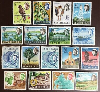 Seychelles 1962-68 Definitives 17 Values Odd MNH Mostly MH