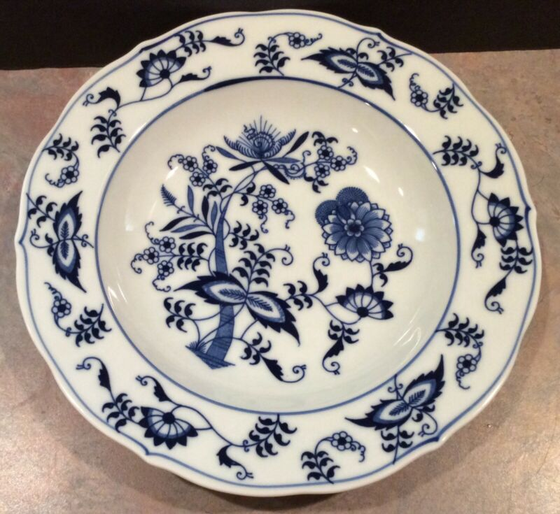 Blue Danube Blue Onion Rimmed Soup Bowl - Rectangle Mark