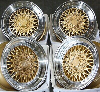 """15"""" Gold Dare RS Alloy Wheels Fits Vauxhall Adam Agila Astra Corsa 4x100 + Tyres"""