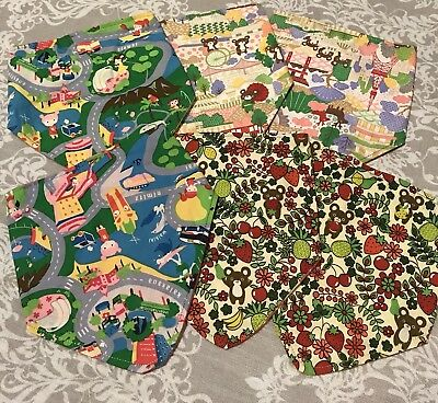 Baby Bandana Bibs HandMade In Hawaii Set Of 6 Bears Fruit Oahu (Fruit Bib Set)