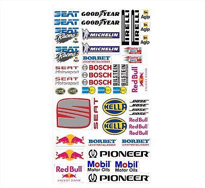 SEAT Logo Autoaufkleber Sponsoren Marken Aufkleber Decals Tuning Sticker Set