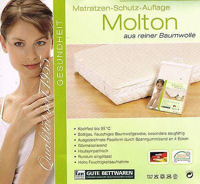 f.a.n. Molton Matratzen Schutzauflage 90x200cm, flauschiges Baumwollgewebe