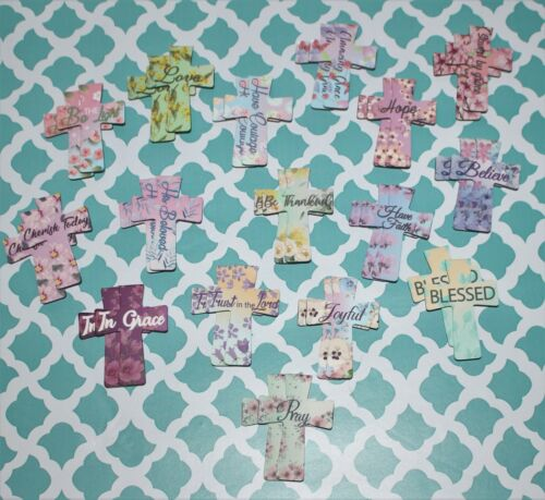 32 Christian Cross Magnetic Bookmarks Paper Clip Magnet Page Book Marker New