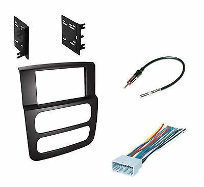 High Grade Dash Kit Dodge Ram 02-05 Double DIN Stereo Install Black