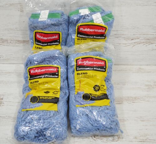 Lot of 8 Rubbermaid Commercial Blend Mop Refill ( #24 Large )