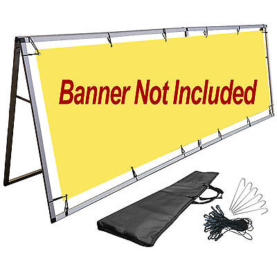 A-frame Vinyl Banner Stand 3x10 Ft Sign Holder Billboard Outdoor Display Stand