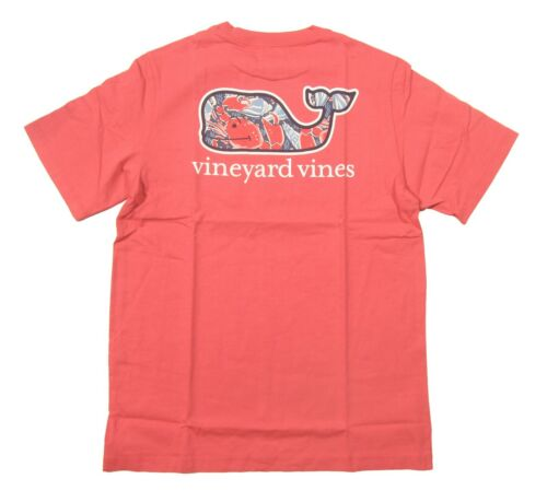 Vineyard Vines Boys Jetty Red Shell Crab Whale Fill Graphic S/S Pocket T-Shirt
