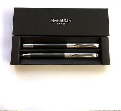 Balmain Paris Schreibset Metall Graphit Touchpen mit Ihrer Diamant Gravur OVP !