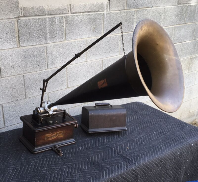COLUMBIA GRAPHOPHONE CYLINDER PHONOGRAPH WITH HORN