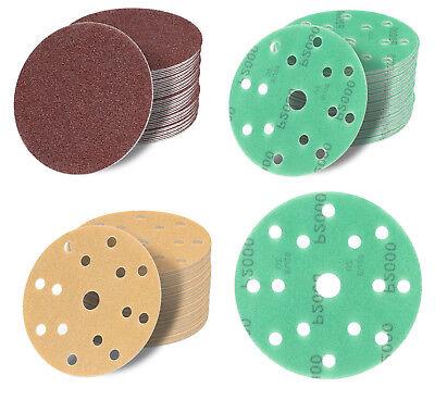 Runder Sand (150 mm Schleifblätter Schleifscheiben Schleifpapier Klett Exzenter Haft Sand)
