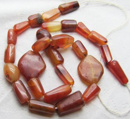 27 Ancient Carnelian beads from Afghanistan.