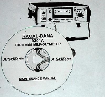 Racal-dana 9301a Rms Milivoltmeter Maintenance Manual