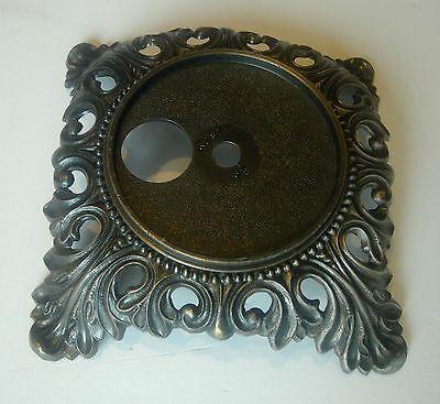 "Ornate Cast Metal Oil Lamp Base Antique Brass Finish 3 1/8"" INSERT"