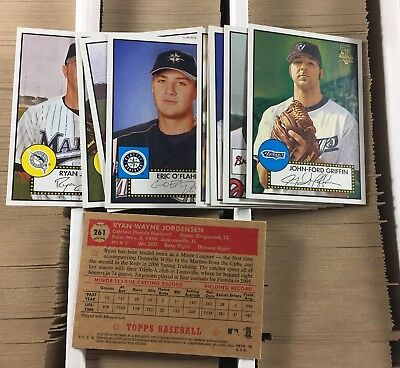 xed 2006 Topps '52 Baseball Cards Are In Numerical Order (Baseballs In Bulk)